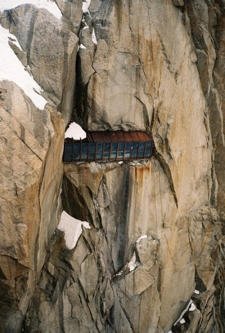 Aiguille du Midi viewing area (part of the Mont Blanc range), Chamonix, France