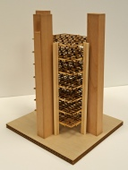 Louis Kahn, model of Richards Medical Research Building